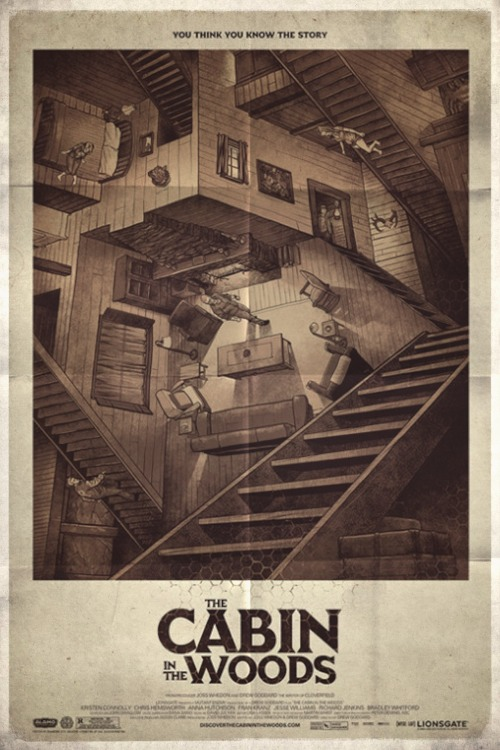 Poster from the movie «Cabin In The Woods»
